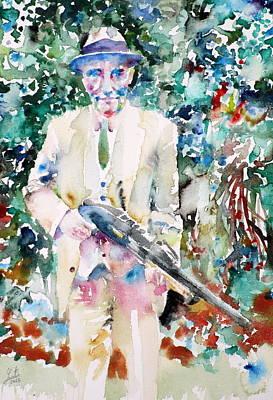 William S. Burroughs - Watercolor Portrait.6 Original