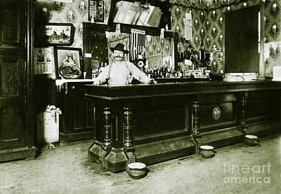 Schmidt Photograph - William Schmidt Saloon1908 by Jon Neidert