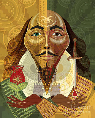 Digital Art - William Shakespeare by Mike Massengale