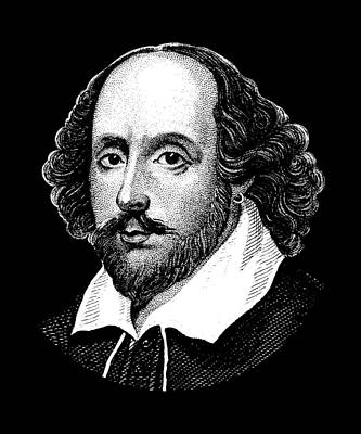 Great Britain Digital Art - William Shakespeare - The Bard  by War Is Hell Store