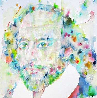 William Shakespeare - Watercolor Portrait.5 Original by Fabrizio Cassetta