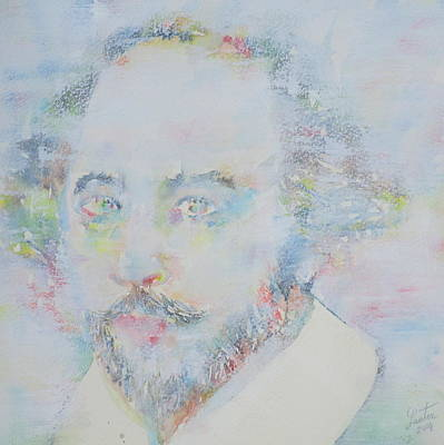 William Shakespeare - Watercolor Portrait.6 Original