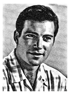 Musicians Drawings Rights Managed Images - William Shatner, Actor, by JS Royalty-Free Image by Esoterica Art Agency