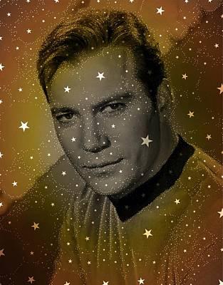 Captain Kirk Digital Art - William Shatner As Captain Kirk by John Springfield