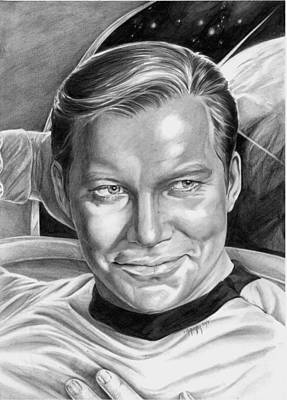 William Shatner - Captain Kirk Art Print by Iracema Marianne Muller
