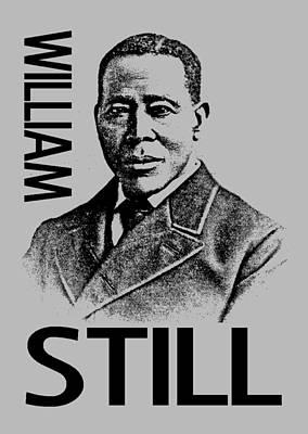Abolitionist Mixed Media - William Still by Otis Porritt