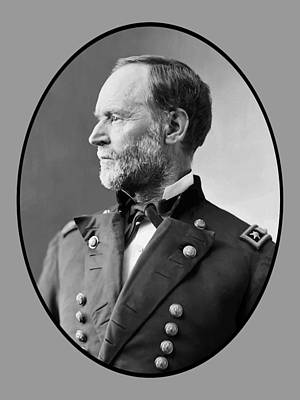 United States Mixed Media - William Tecumseh Sherman by War Is Hell Store