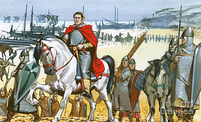 Hastings Painting - William The Conqueror Arriving In England  by Angus McBride