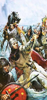 William The Conqueror Arriving In England In 1066 Art Print