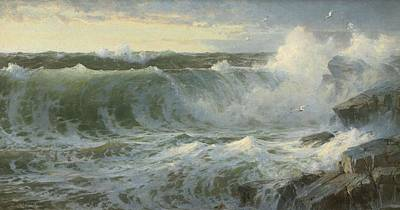 Painting - William Trost Richards American 1833  1905   Seascape by Artistic Panda