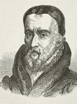 Bible Drawing - William Tyndale 1494 To 1536 Bible by Vintage Design Pics