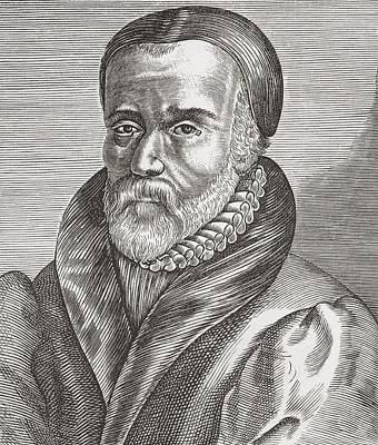 Bible Drawing - William Tyndale, C.1494 To 1536 by Vintage Design Pics