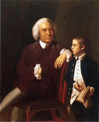 Painting - William Vassall And His Son Leonard by Copley John Singleton
