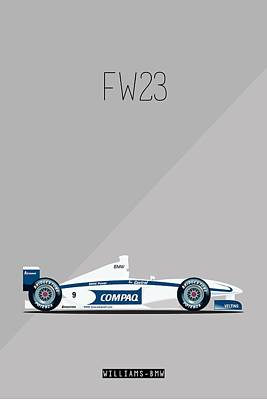 Painting - Williams Bmw Fw23 F1 Poster by Beautify My Walls