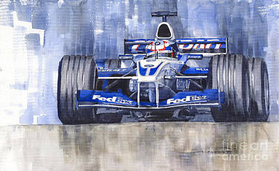 Sports Cars Painting - Williams Bmw Fw24 2002 Juan Pablo Montoya by Yuriy  Shevchuk