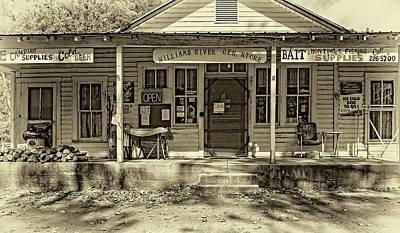 Autumn Photograph - Williams River General Store - West Virginia - Sepia by Steve Harrington