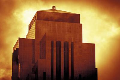 Digital Art - Williams Tower - Houston Gold by Bartz Johnson