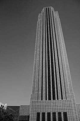 Photograph - Williams Tower Houston In Black And White by Angela Rath