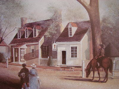 Colonial Williamsburg Painting - Williamsburg Bootery by Charles Roy Smith