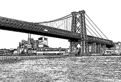 Williamsburg Bridge 1.1 - New York Art Print by Frank Mari