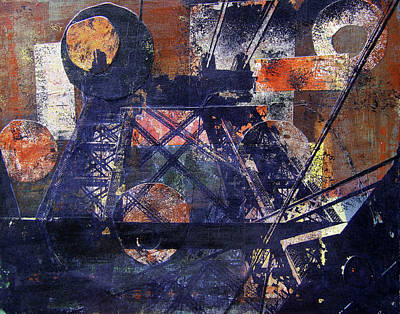 Nyc Mixed Media - Williamsburg Bridge by Debra Kuzbik