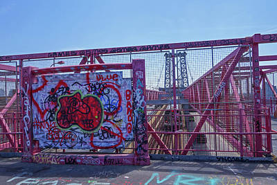 Photograph - Williamsburg Bridge Graffiti by Toby McGuire