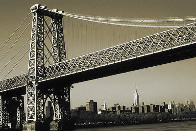 Photograph - Old New York Photo - Williamsburg Bridge by Peter Potter
