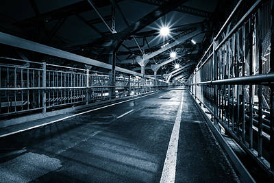 Photograph - Williamsburg Bridge Pedestrian Walkway by Mihai Andritoiu