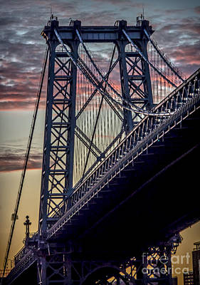 Williamsburg Bridge Structure Art Print