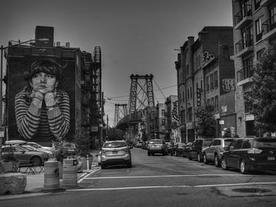 Photograph - Williamsburg Brooklyn 001 Bw by Lance Vaughn