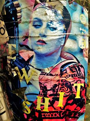 Photograph - Williamsburg Brooklyn Woman Mural  by Funkpix Photo Hunter