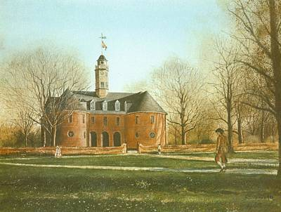 Roy Painting - Williamsburg Capital by Charles Roy Smith