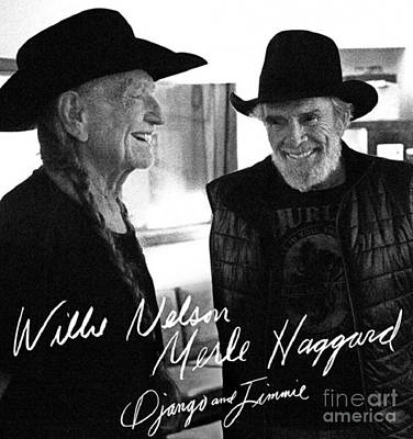 Willie And Merle Autographed Art Print by Pd