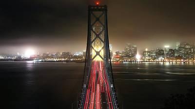 Landmark Digital Art - Willie Brown Bridge by Maye Loeser