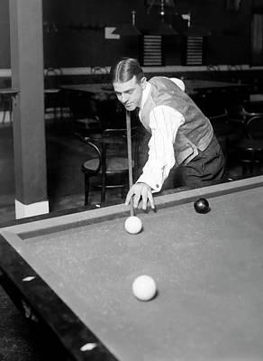 Billiard Sticks Digital Art - Willie Hoppe Champion Billiard Player C. 1908 by Daniel Hagerman