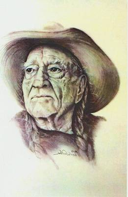 Willie Nelson Drawing - Willie by Linda Walker
