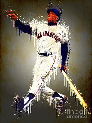 New York Mets Digital Art - Willie Mays by Edelberto Cabrera