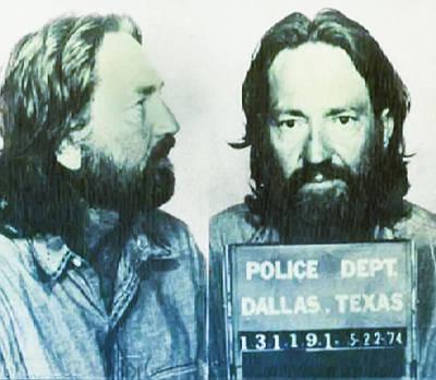 Mugshot Photograph - Willie Nelson 1974 Mugshot by Bill Cannon