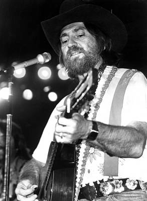 Photograph - Willie Nelson, 1978 by Everett
