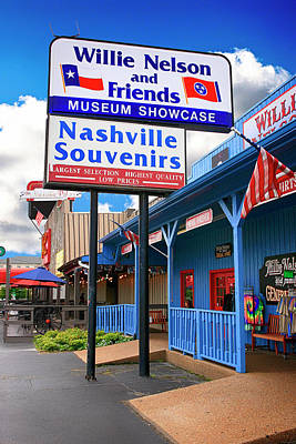 Photograph - Willie Nelson And Friends Museum And Souvenir Store In Nashville, Tn, Usa by Chris Smith