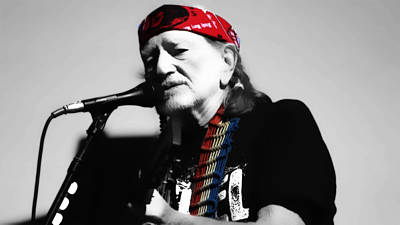 Grand Ole Opry Digital Art - Willie Nelson by Brian Reaves