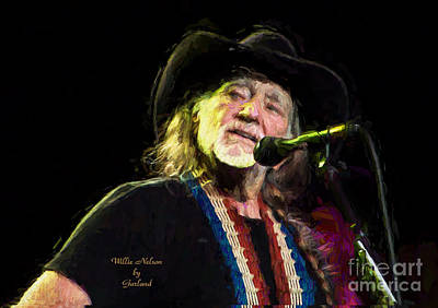 Music Mixed Media - Willie Nelson by Garland Johnson