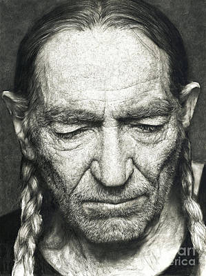 Willie Nelson Drawing - Willie Nelson by Harrison Ma