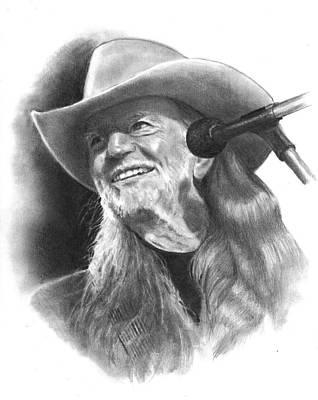 Willie Nelson Drawing - Willie Nelson by Joyce Geleynse