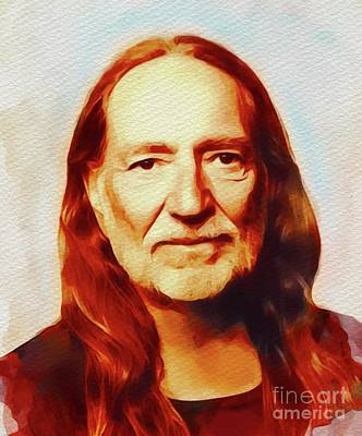 Music Paintings - Willie Nelson, Music Legend by Esoterica Art Agency