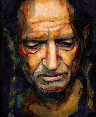 Painting - Willie Nelson Portrait 2 by Laur Iduc