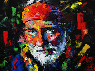Painting - Willie Nelson by Richard Day