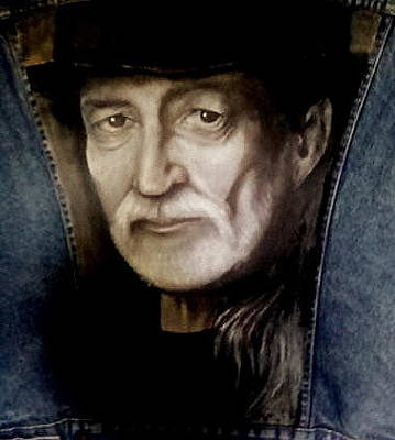 Gioffre Harrington Painting - Willie Nelson Vest by Janet Gioffre Harrington