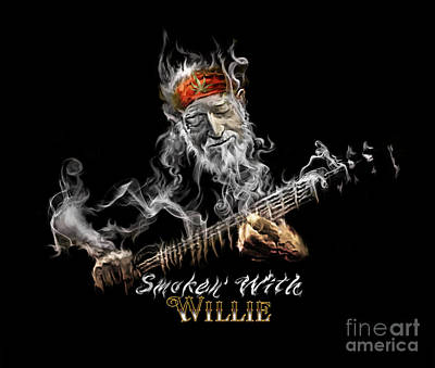 Painting - Willie Smoken' by Rob Corsetti