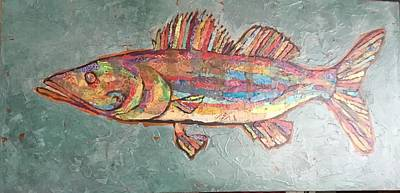 Painting - Willie The Walleye by Phiddy Webb
